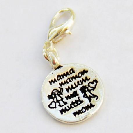 Médaille maman pendentif Creastic Bracelet
