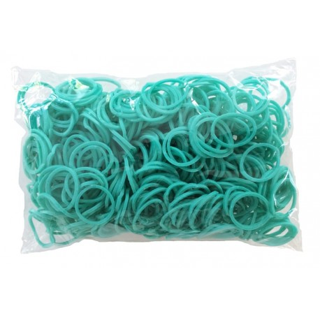 600 élastiques TURQUOISE - Recharge loom