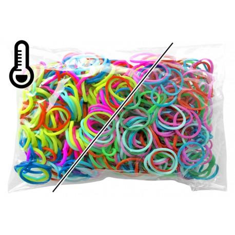 600 élastiques COULEUR TEMPERATURE - Recharge loom