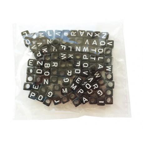 Beads Black Letter