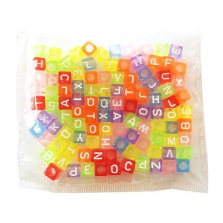 Perles Lettres de Couleurs transparentes