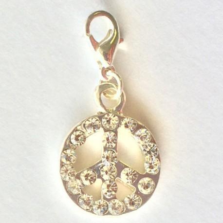Peace & Love Diamant pendentif Creastic Bracelet