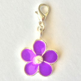 Purple flower Charm Creastic Bracelet