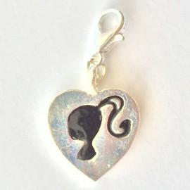 Coeur Fille pendentif Creastic Bracelet
