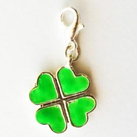 Green clover flower Charm Creastic Bracelet
