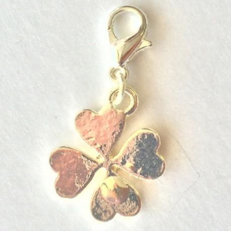 Fleur trèfle pendentif Creastic Bracelet