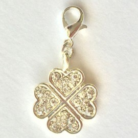Diamond clover flower Charm Creastic Bracelet