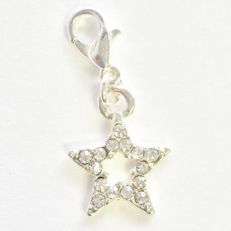Etoile Diamant pendentif Creastic Bracelet