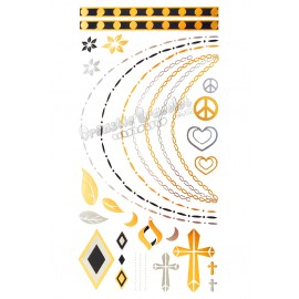 Metal temporary tattoo - Necklaces and Crosses