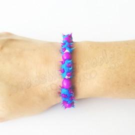 Spike Stretch Bracelet Perle Bleu-Violet