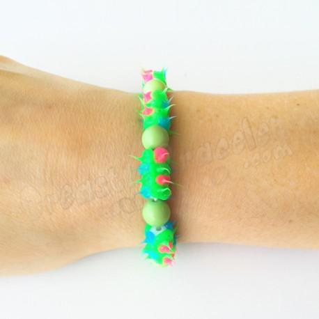 Spike Stretch Bracelet Vert - Perle Verte