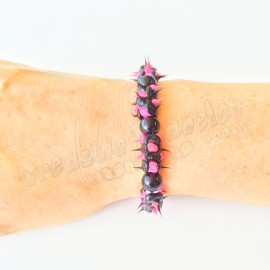 Spike Stretch Bracelet  Perle Noire