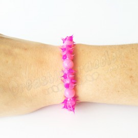 Spike Stretch Bracelet Rose
