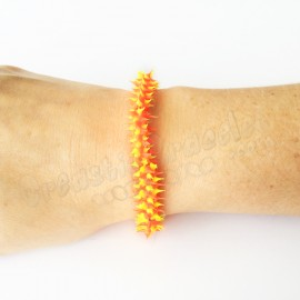 Spike Stretch Bracelet Jaune - Orange