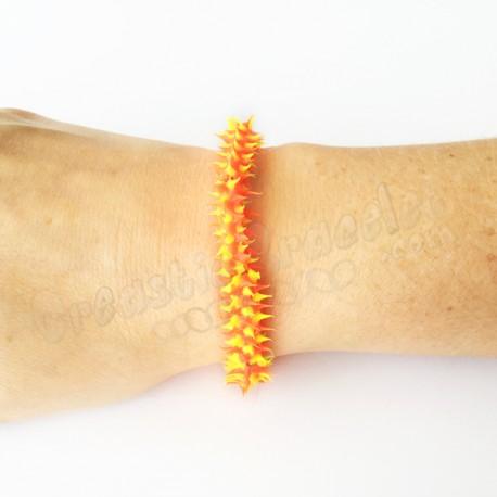Spike Stretch Bracelet Jaune - Orange