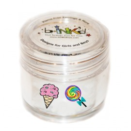 Mini jar 24 Tattoos - ice cream and lollipops