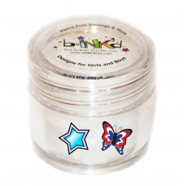 Mini jar 24 Tattoos - Butterfly and Stars