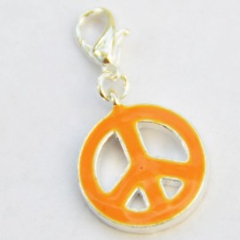 Orange Peace & Love Charm Creastic Bracelet