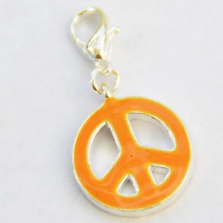 Orange Peace & Love Charm Creastic Bracelet