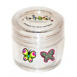 Mini pot 24 Mini Tattoos Papillons Phosphorescents
