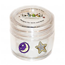 Mini pot 24 Mini Tattoos Etoiles-Lunes Phosphorescents
