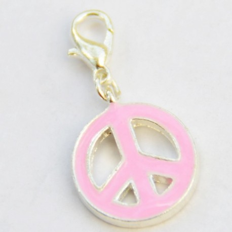 Pink Peace & Love Charm Creastic Bracelet