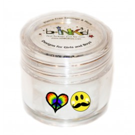Mini jar 24 Tattoos - Heart and Moustache