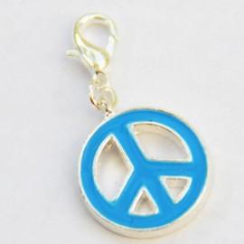 Peace & Love Bleu pendentif Creastic Bracelet