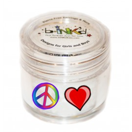 Mini pot 24 Mini Tattoos Coeur-Peace