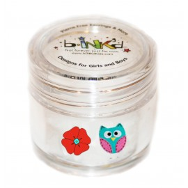 Mini pot 24 Mini Tattoos Hibou-Fleur