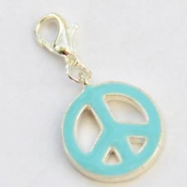 Peace & Love Bleu clair pendentif Creastic Bracelet