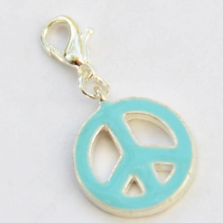 Light blue Peace & Love Charm Creastic Bracelet