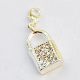 Diamond Padlock Charm Creastic Bracelet
