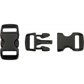 Boucle rapide paracorde 10mm plastique Noir