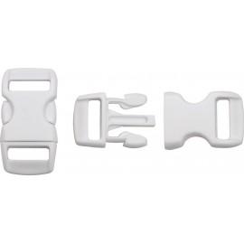 Boucle rapide paracorde 10mm plastique Blanc