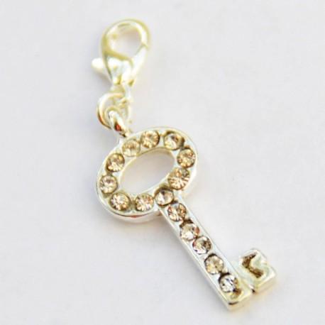 Clé Diamant pendentif Creastic Bracelet