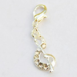 Diamond Note Charm Creastic Bracelet