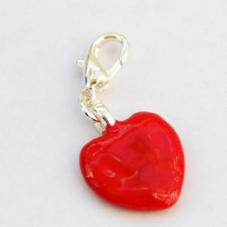 Coeur rouge pendentif Creastic Bracelet
