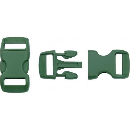 Boucle rapide paracorde 10mm plastique Vert forêt