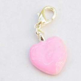 Coeur rose pendentif Creastic Bracelet
