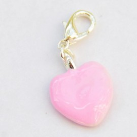 Pink heart Charm Creastic Bracelet
