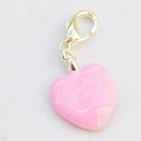 Pink heart Charm Creastic Bracelet