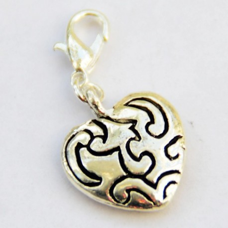 Fancy heart Charm Creastic Bracelet