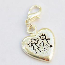 Coeur enfant pendentif Creastic Bracelet