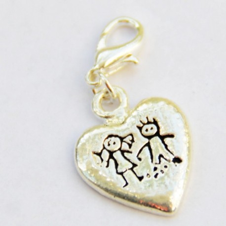 Kids heart Charm Creastic Bracelet