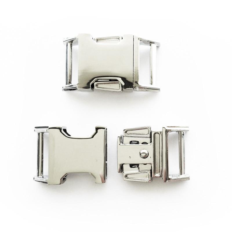 Boucle rapide paracorde 15mm acier chromée - Creastic Bracelet ... 2c70bd5ed48