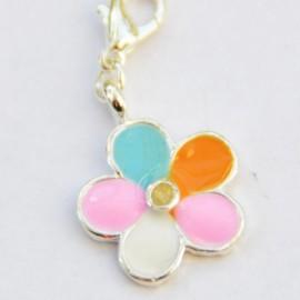 Fleur multicolore pendentif Creastic Bracelet