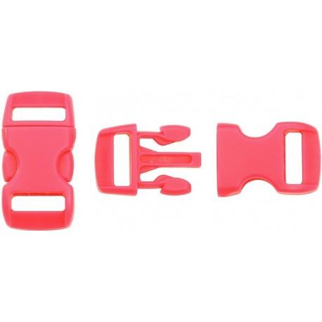 Boucle rapide paracorde 10mm plastique Rouge