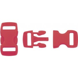 Boucle rapide paracorde 10mm plastique Rouge Carmin