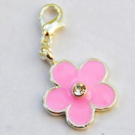 Pink flower Charm Creastic Bracelet